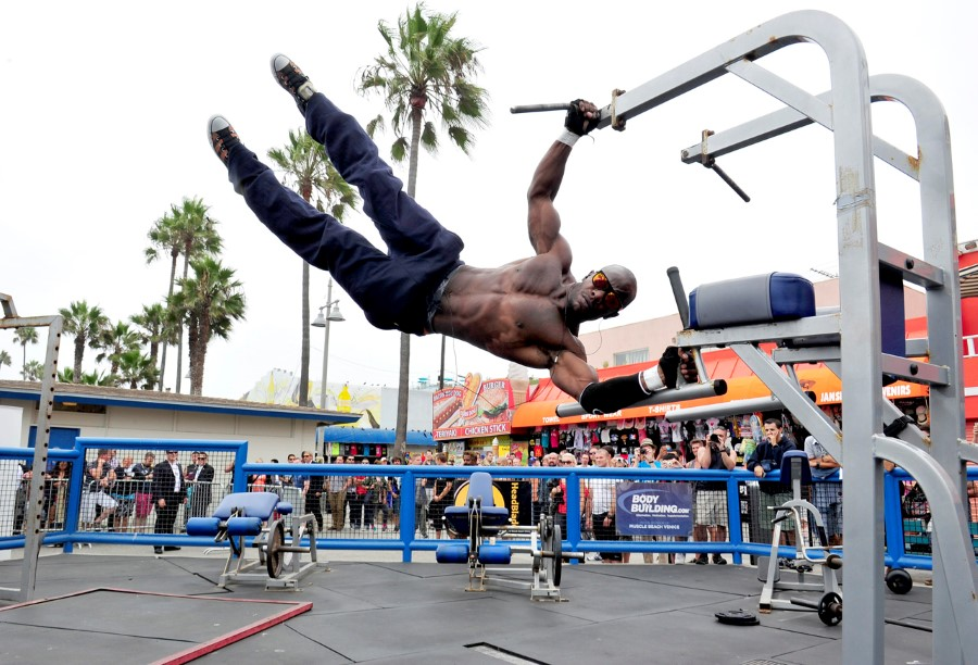 Arnold Schwarzenegger Hosts Special Body Building Experience At Muscle Beach Venice To Celebrate The Launch Of The Arnold Series