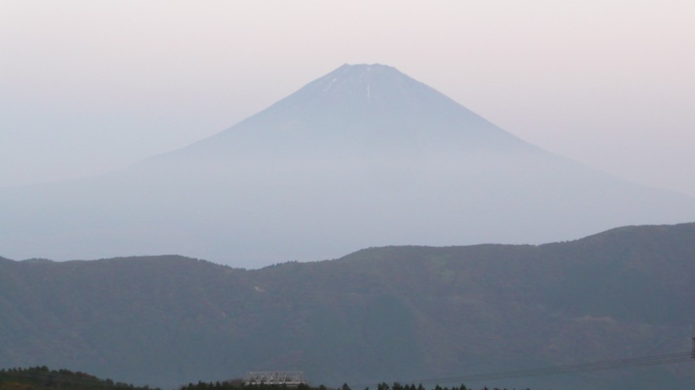 Mount Fuji viewed at dawn from Hakone