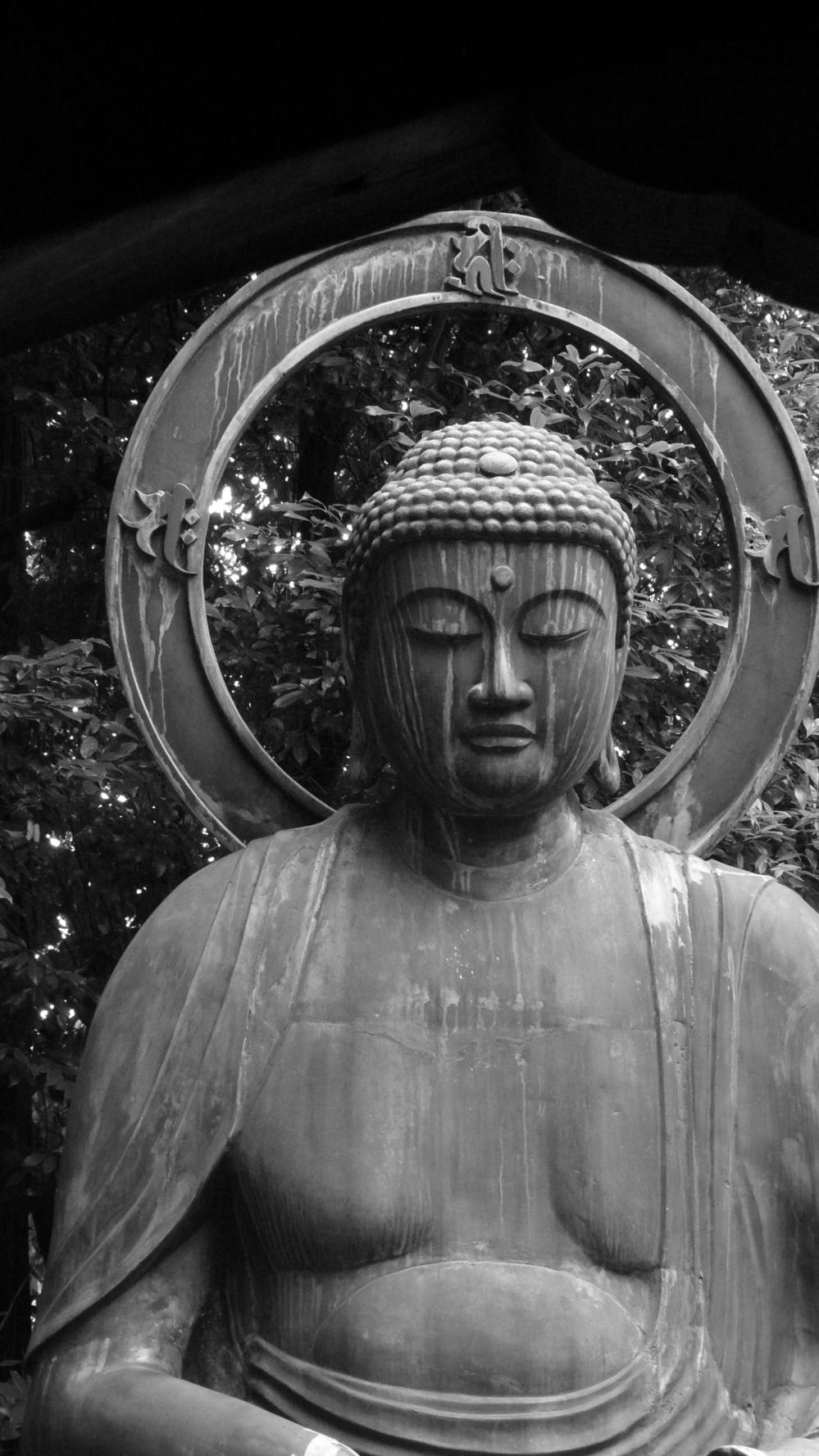 Kyoto Shinnyodo Temple outdoor Bronze Buddha